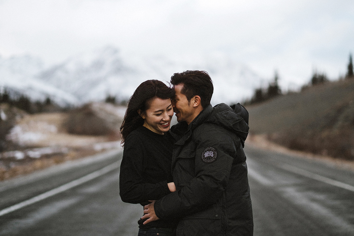 Alaska highway Engagement Session Hennygraphy