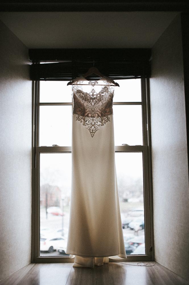 wedding dress shot natural light