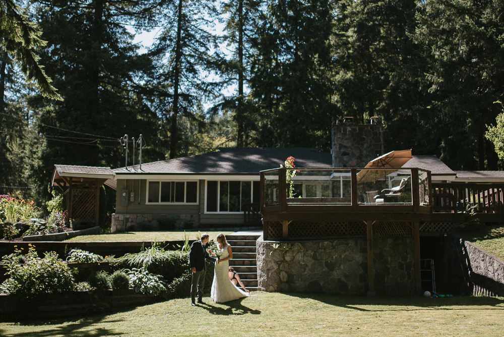 Intimate backyard wedding Vancouver