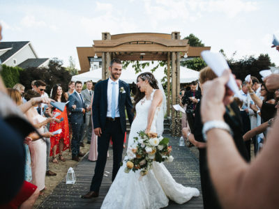 Lake front summer wedding