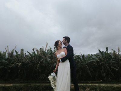 Oahu Backyard wedding Hawaii   Jen + Tommy
