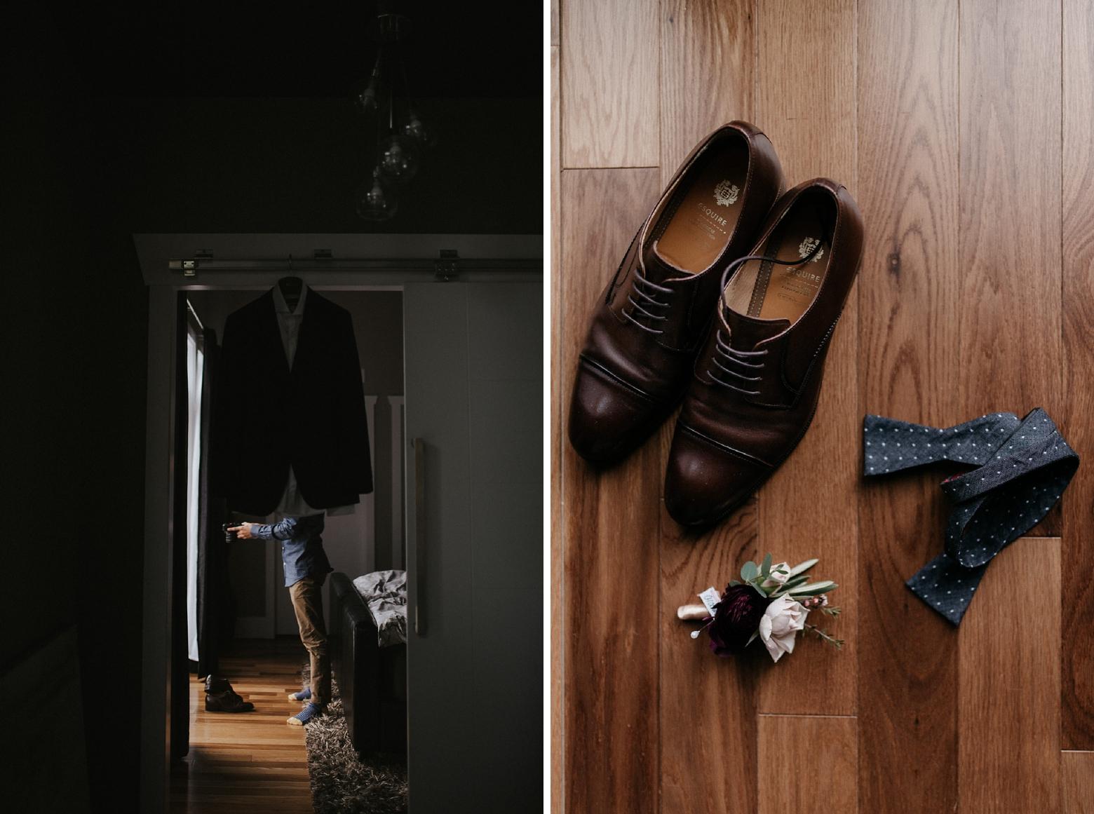 grooms wedding detail photo