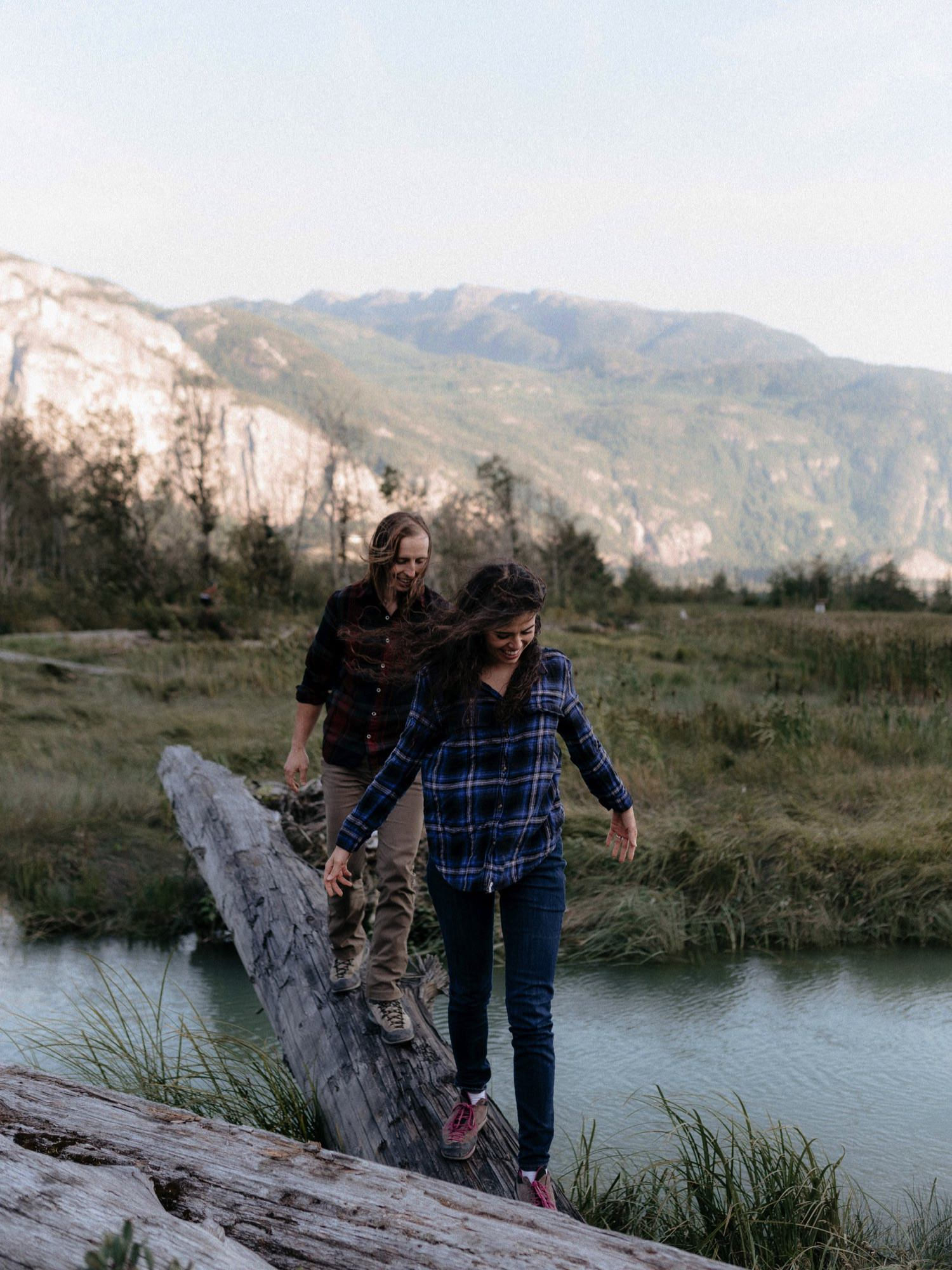 Squamish engagement session at Squamish Estuary