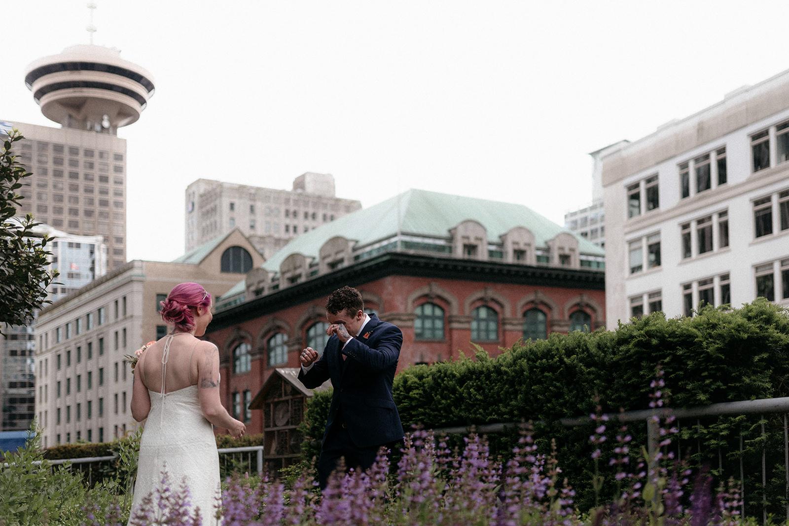 Fairmont Waterfront Herb Garden Wedding