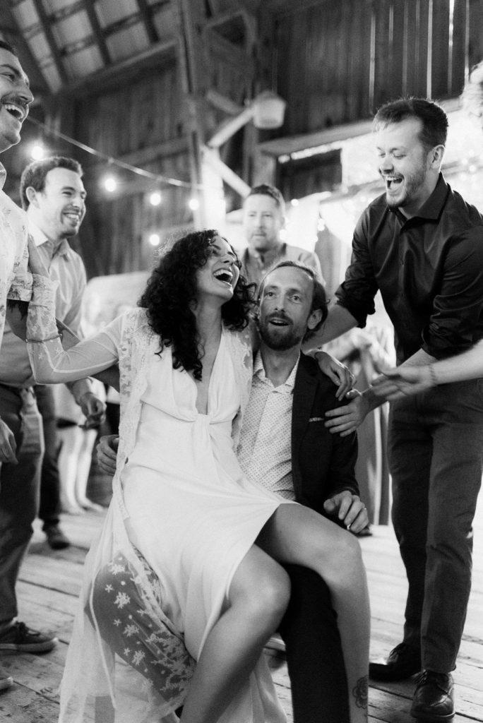 muskoka barn wedding hora dance