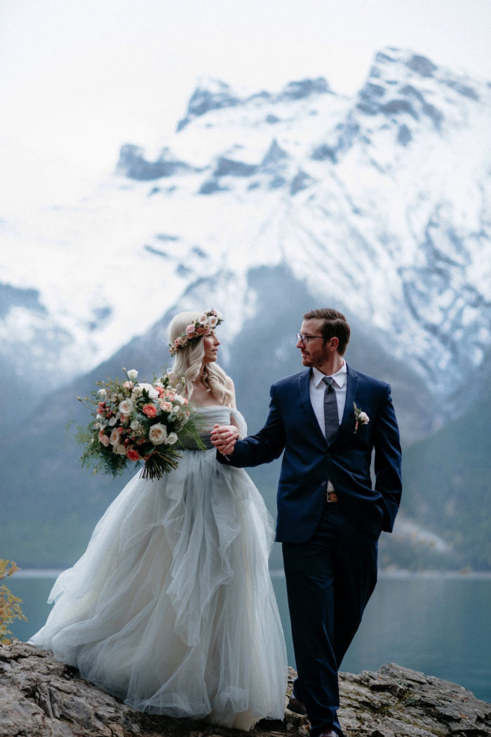 Banff national Park Lake Minewanka Elopement